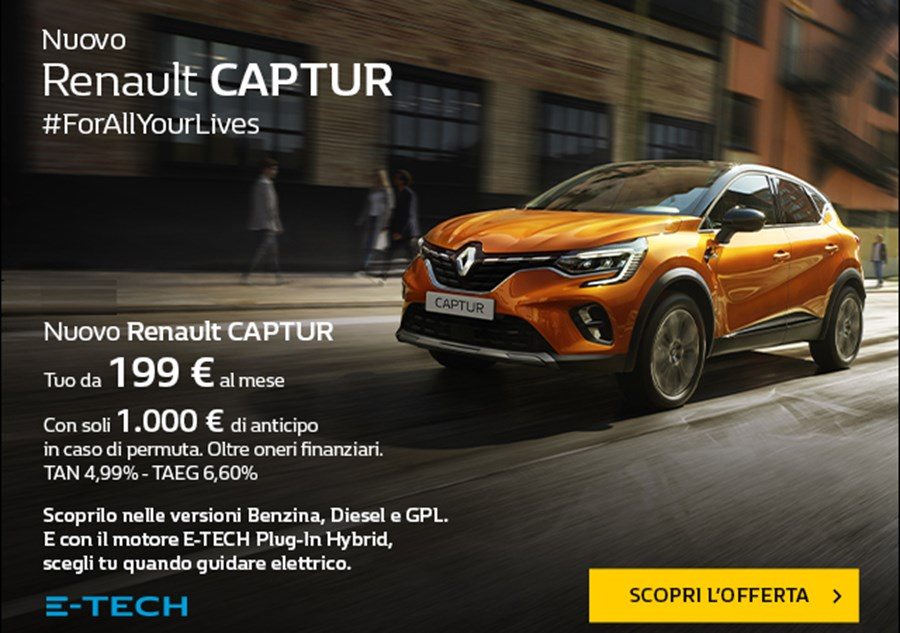NUOVO Renault CAPTUR. For all your lives