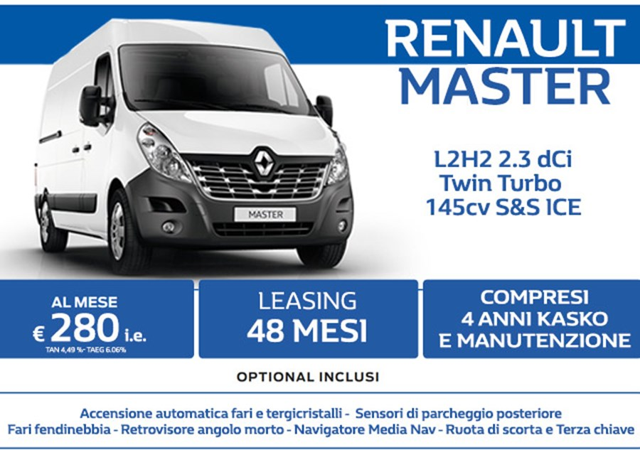 Renault MASTER in Leasing a soli 280€ al mese